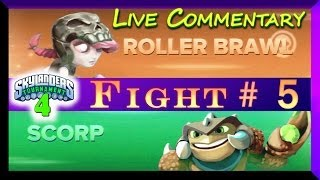 getlinkyoutube.com-Skylanders Swap Force Battle Mode PVP 4th Tournament Roller Brawl Vs Scorp Fight #5