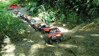 getlinkyoutube.com-Mudding! Mud SPA! 10 trucks mud terrain Trail finder 2 Axial wraith scx10 Jeep RC offroad adventures