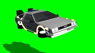 getlinkyoutube.com-back to the future delorean fly by on green screen - free green screen