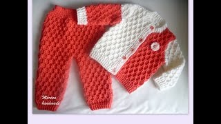 getlinkyoutube.com-VERY EASY crochet cardigan / sweater / jumper tutorial - baby and child sizes 1