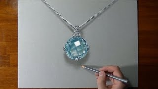 getlinkyoutube.com-How I draw an aquamarine necklace