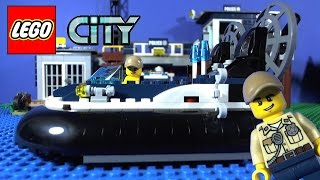 getlinkyoutube.com-LEGO City Swamp Police Hovercraft Arrest 60071
