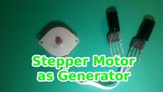getlinkyoutube.com-How to use a Stepper Motor as Generator