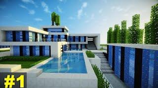 getlinkyoutube.com-Minecraft: Tutorial Casa Super Moderna - Parte 1