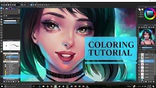 getlinkyoutube.com-MediBang: Coloring Tutorial + Speedpaint