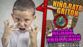 TROLLEO AL NIÑO RATA MÁS LOCO DE MINECRAFT! | TROLLEOS EN MINECRAFT