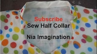 getlinkyoutube.com-Sew Latest half collar High Neck design easy