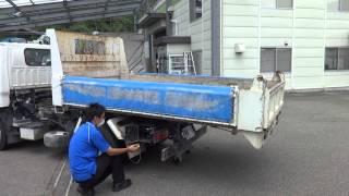 getlinkyoutube.com-中古トラック いすゞ エルフ ローダーダンプ 土砂ダンプ 重機運搬車 作動