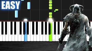 getlinkyoutube.com-Skyrim Theme - EASY Piano Tutorial by PlutaX - Synthesia