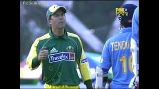 getlinkyoutube.com-Ugliest incident between Tendulkar and Ponting, Sachin recalled to the wicket, FURIOUS Ponting