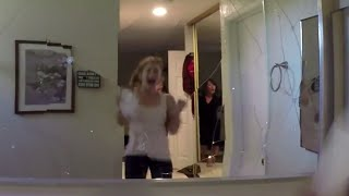 getlinkyoutube.com-Paranormal Activity: The Ghost Dimension: Great Haunted House Scare Prank