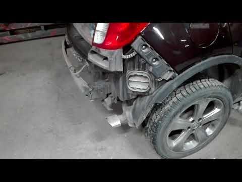 Opel Mokka снимаем задний бампер