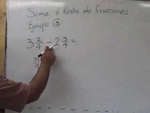 resta de fracciones mixtas mismo denominador.mp4