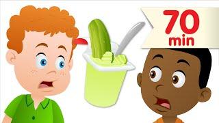 getlinkyoutube.com-Do You Like Pickle Pudding? + More | Kids Songs | Super Simple Songs