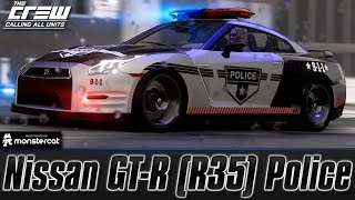 getlinkyoutube.com-The Crew Calling All Units: Nissan GT-R (R35) Police (Perf Spec) [Customization + Test Drive]