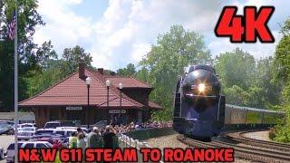 getlinkyoutube.com-N&W 611 Steam to Roanoke
