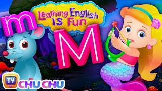 ChuChu TV Learning English Is Fun™ | Alphabet M Song | Phonics & Words For Preschool Children width=