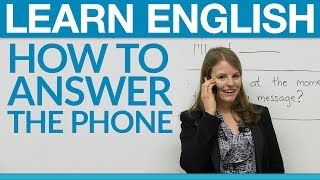 getlinkyoutube.com-Speaking English - How to answer the phone