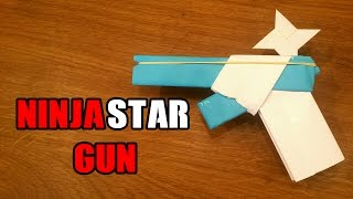 getlinkyoutube.com-How To Make a Paper Gun That Shoots Ninja Stars - With Trigger