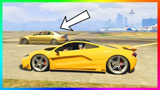 getlinkyoutube.com-GTA 5 DLC Car Faster Than Best Super Car!? - Progen T20 VS Schafter V12 Speed Test Results! (GTA V)