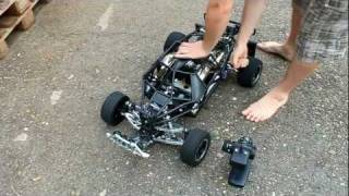getlinkyoutube.com-HPI Baja OBR Toxic Twin 57ccm THE GRIMLY