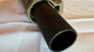 getlinkyoutube.com-GRG 1/2x28 threaded for 223/556 steel sound forwarder muzzle brake comp flash can