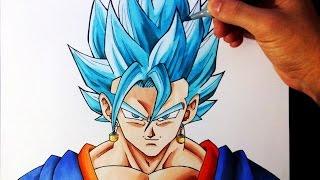 getlinkyoutube.com-Cómo Dibujar a Vegetto SSJ Dios Azul | How to draw Vegetto Super Saiyan God Blue | ArteMaster