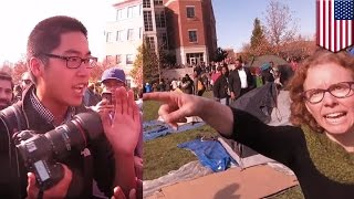 getlinkyoutube.com-University of Missouri: Bully professors and students harass reporters covering protests - TomoNews