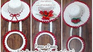 getlinkyoutube.com-Passo a passo Porta Pano de Prato Chapéu de Crochê
