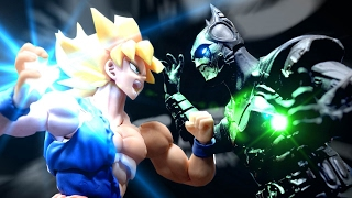 getlinkyoutube.com-Dragon Ball Stop Motion - Goku VS Batman 悟空VS蝙蝠俠