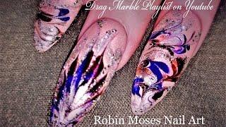 No Water Marble Nails | DIY Dry Drag Marbling Nail Art Design Tutorial