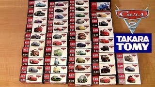getlinkyoutube.com-Cars 2 Complete Diecast Collection Tomica Takara Tomy Disney Pixar Kids Toys カーズ・トミカ