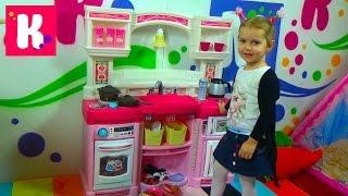 getlinkyoutube.com-Кухня игрушечная с приборами Степ2 распаковка детской кухни игрушки Step 2 kitchen rise and shine