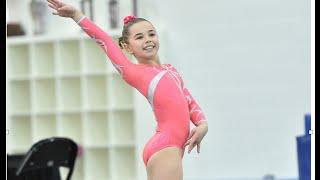 Katie Scores 9.925 on Floor! Level 7 | Gymnastics | The Coral Girls