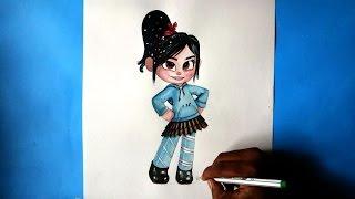 getlinkyoutube.com-how to draw vanellope von schweetz from wreck it ralph