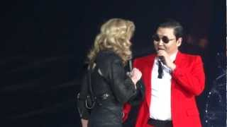 getlinkyoutube.com-Madonna And Psy - MDNA Give It 2 Me / Gangnam Style / Music - Madison Square Garden