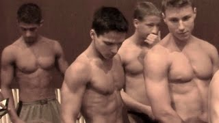 Teen bodybuilders contest - Weigh in