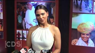 Lara Dutta Flaunts Her Heavy Front in Body Hugging Dress