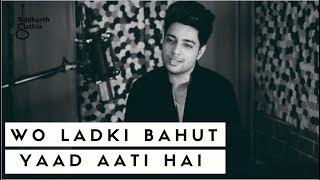 Woh Ladki Bahut Yaad Aati Hai   Unplugged | Kumar Sanu | Qayamat | Siddharth Slathia