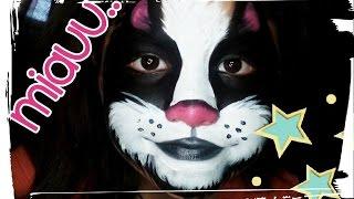 getlinkyoutube.com-Maquillaje de gato para niños y hallowen