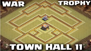 TH11 War/Trophy Base Speed Build | Best Anti-2 Star Base! - Clash of Clans