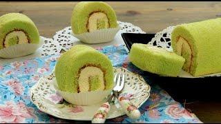 getlinkyoutube.com-How To Make Chinese Bakery Pandan Swiss Roll Cake   班兰瑞士蛋糕卷