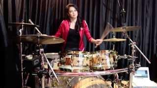 getlinkyoutube.com-Animals - Maroon 5 (Drum Cover) - Rani Ramadhany ft. Handy Salim