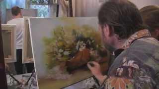"""getlinkyoutube.com-Видеоурок Сахарова """"Как научиться рисовать ромашки"""" живопись для начинающих, уроки рисования"""