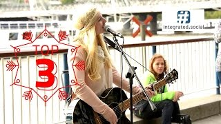 getlinkyoutube.com-Amazing Street Performer Charlotte Campbell original Song Southbank