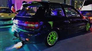getlinkyoutube.com-Modified Toyota Starlet GT Turbo Loud Pops & Bangs