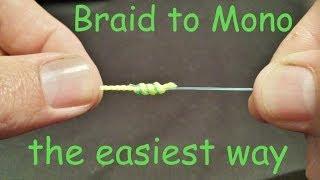 getlinkyoutube.com-How to tie Braid to Mono Leader Knot | How to tie Braid to Leader knot