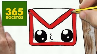 getlinkyoutube.com-COMO DIBUJAR LOGO GMAIL KAWAII PASO A PASO - Dibujos kawaii faciles - How to draw a logo Gmail