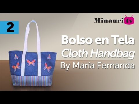 Bolso en Tela By María Fernanda (B2/2) ( Hand made Tote / Bags / Purses / Handbags / Wallet )