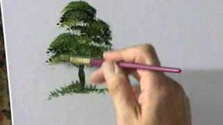 getlinkyoutube.com-Painting Acrylic Trees and Landscapes with Terry Harrison (Preview)